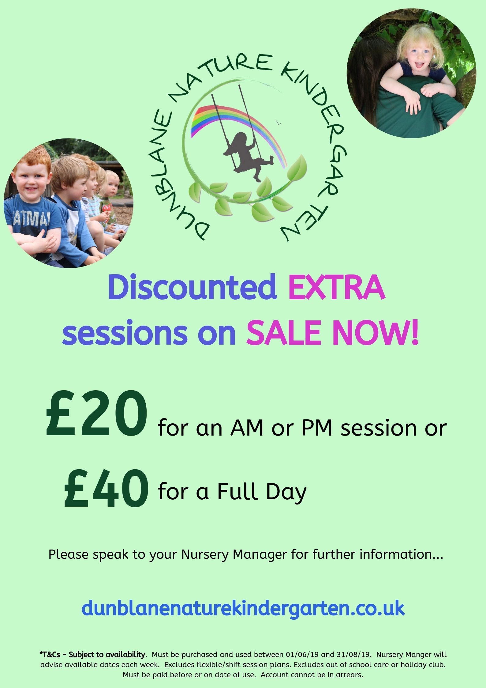 discounted extra sessions Dunblane kindergarten